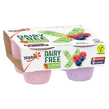Yoplait Dairy Free Raspberry And Blueberry 4-pack