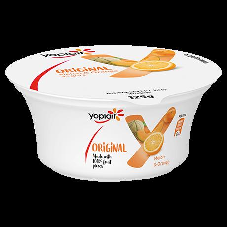 Yoplait Original Singles Melon and Orange