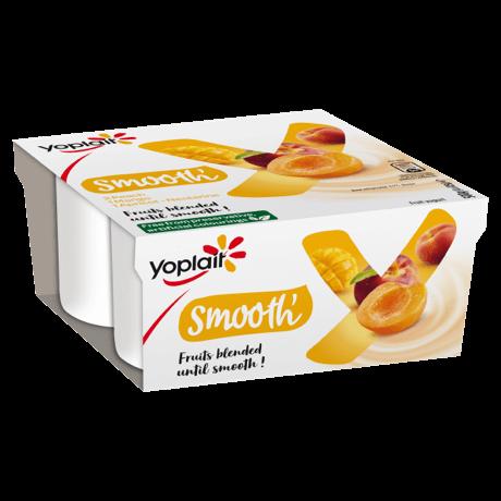 Yoplait Smooth Peach, Apricot-Nectarine and Mango Fruits 4-pack