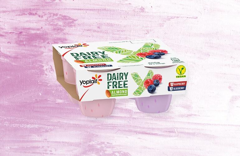 Yoplait Dairy Free Raspberry, Blueberry Explore Product